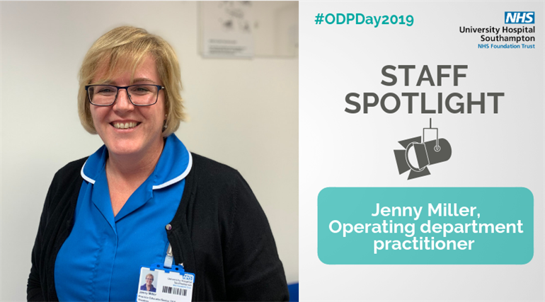 Jenny Miller, operating department practitioner at University Hospital Southampton